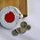 Red White Crochet Round Coin Purse 2