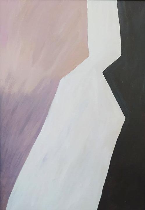 Contemporary mixed media painting