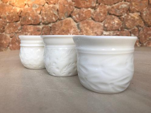 Embossed Porcelain Light-Candles