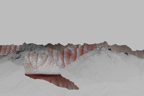 Mountain I digital collage print by Ilektra Maipa