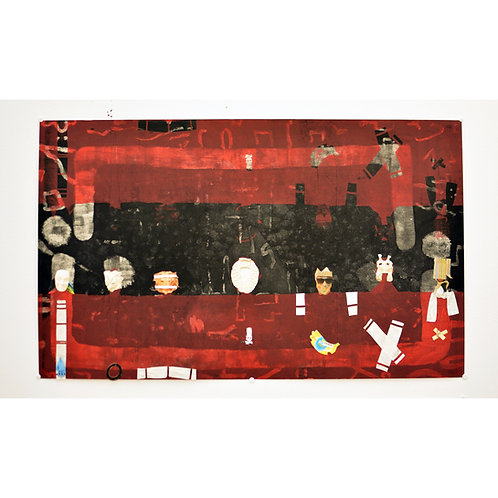 contemporary Greek art mixed media collage