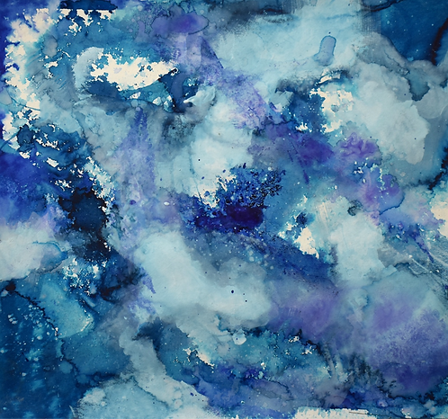 Eleanna Martinou original art nebula painting on paper buy online