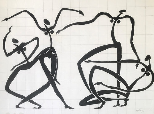 George Pastakas original painting Olympic Games High Priestesses
