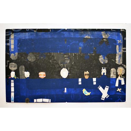 contemporary Greek art mixed media collage Dimosthenis Bogiatzis