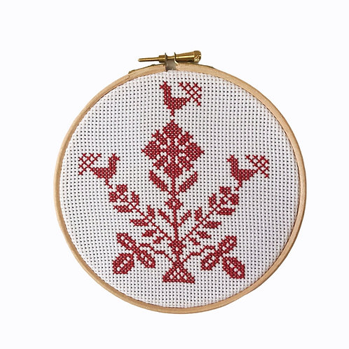 unique handmade cross stitch embroidery on canvas withcotton thread