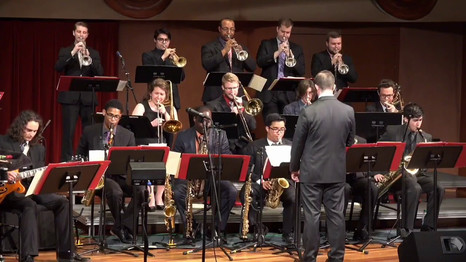 Schwob Jazz Orchestra - Bass and Drums Solo @ Legacy Hall (Just Friends - Klenner/Lewis)