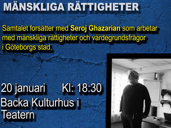 Samtalet om mänskliga rättigheter fortsätter på Onsdag med Seroj Ghazarian!