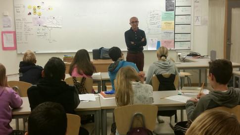 Författaren Soleyman Ghasemiani på besök i Kärraskolan!