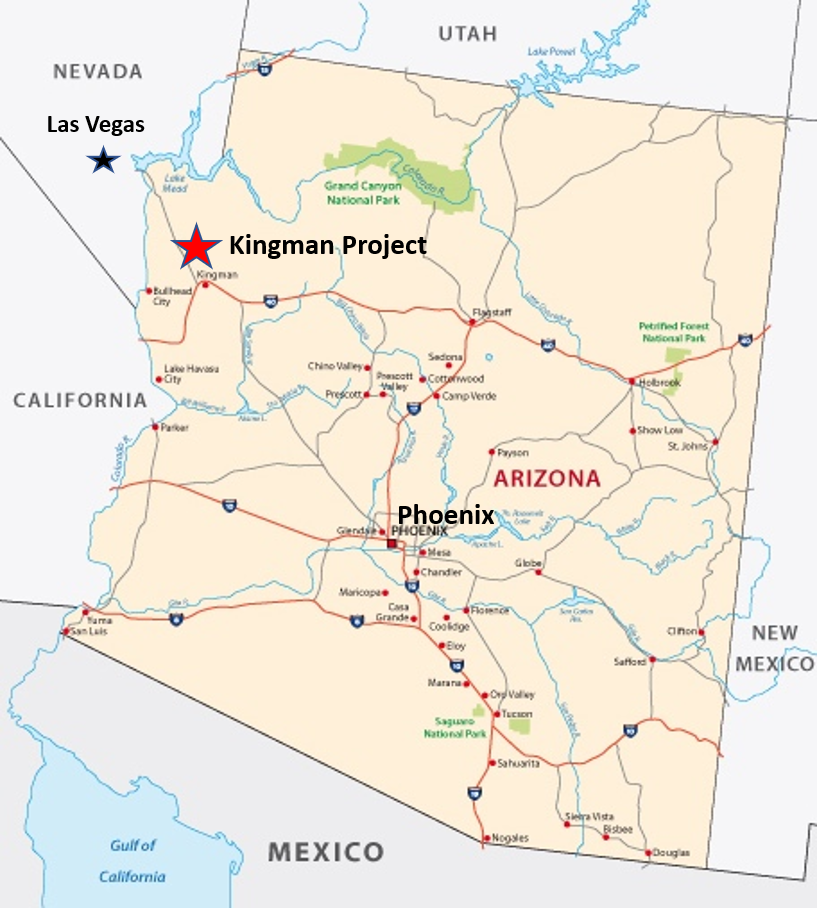 Kingman Gold Project Map