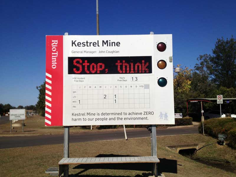 Figure 5: The common signboard before entering any mine site or plant in Australia.