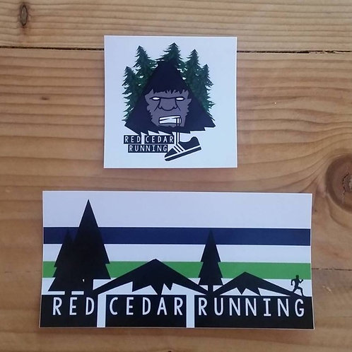 Red Cedar Running Stickers