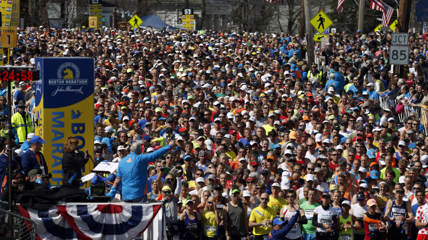 Lacy Competes in the Boston Marathon