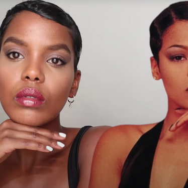 Nia Long inspired '90s makeup look.