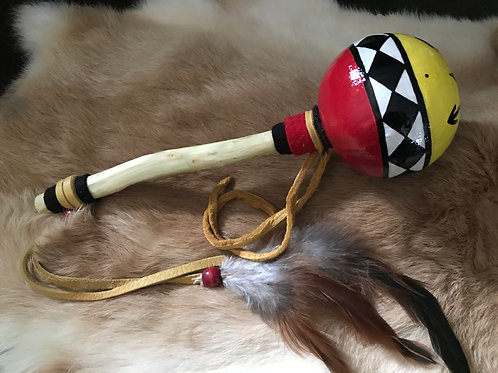 Red & Yellow Gourd Rattle