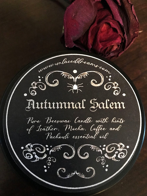 Autumnal Salem Scented Beeswax Candle