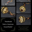 Gourd Rattle - Pyrography