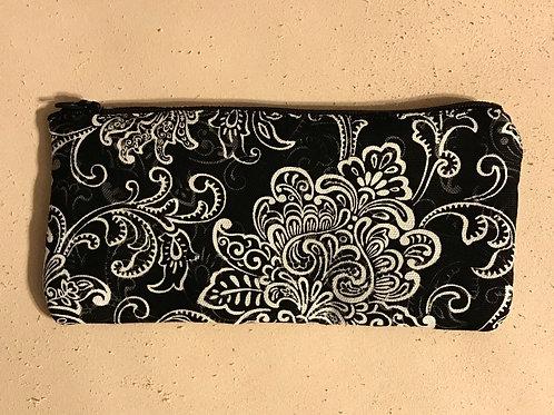 Damask Zipper Makeup Bag