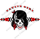 Native Girl Skull