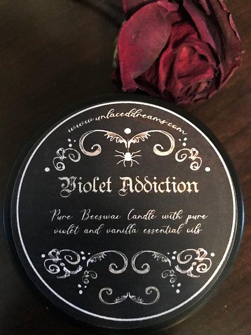 Violet Addiction Scented Beeswax Candle