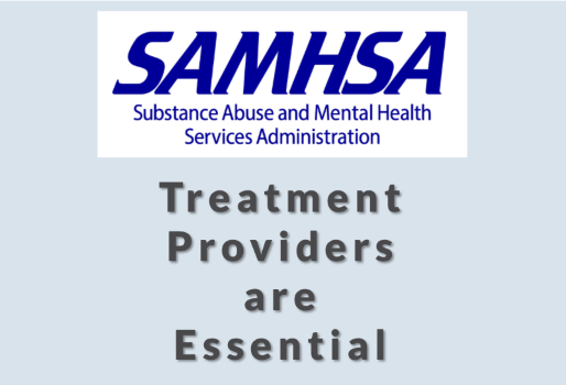 SAMHSA reaffirms treatment providers are essential medical services requiring PPE