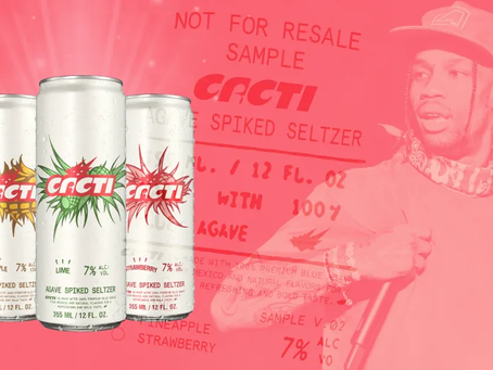 Travis Scott Becomes The Latest Celebrity To Use Their Image And Likeness On A Drink