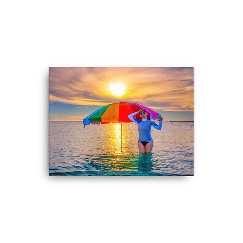 Rainbow Sunset - Canvas