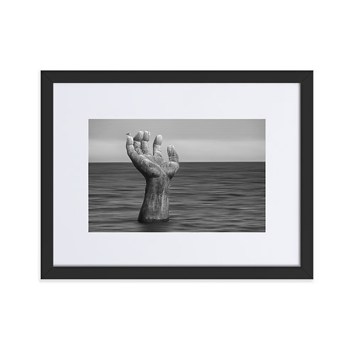 The hand of Homigot - Matte Paper Framed Poster With Mat