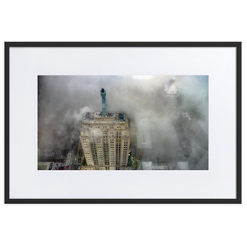Leap into the Fog -  Chicago Matte Paper Framed Poster With Mat