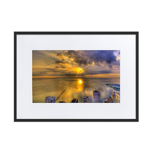 Golden Silk Sunset - Matte Paper Framed Poster With Mat