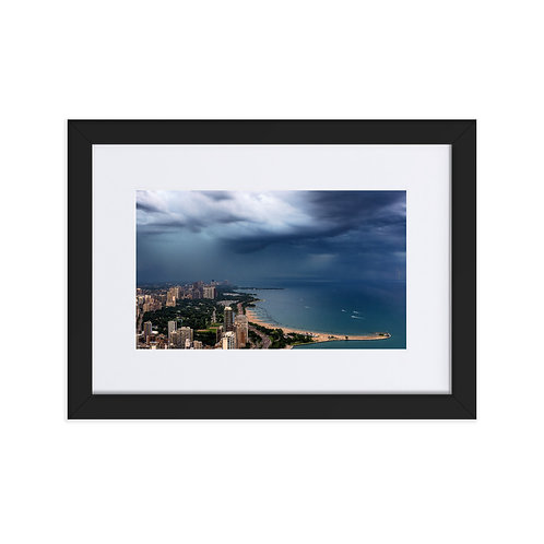 Storm Coming Matte Paper Framed Poster With Mat