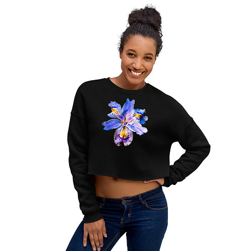 Intrigued in the night - Crop Sweatshirt