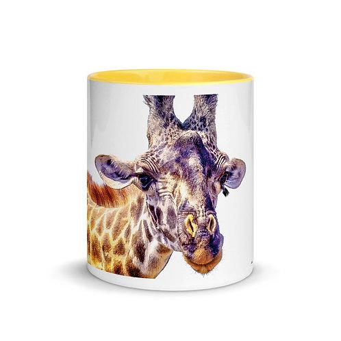 Flirty Giraffe - Mug with Color Inside