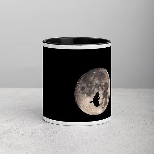 Moon Peek - Mug with Color Inside