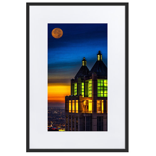 900 North Matte Paper Framed Poster With Mat
