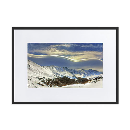 Sleeping Lady Snow Mountain - Matte Paper Framed Poster With Mat