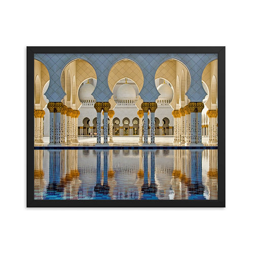 Grand Mosque - Framed photo paper poster