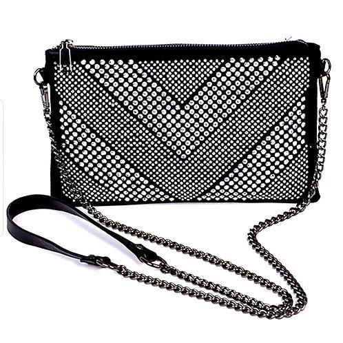 Hello 3 am Studded Crossbody Bag