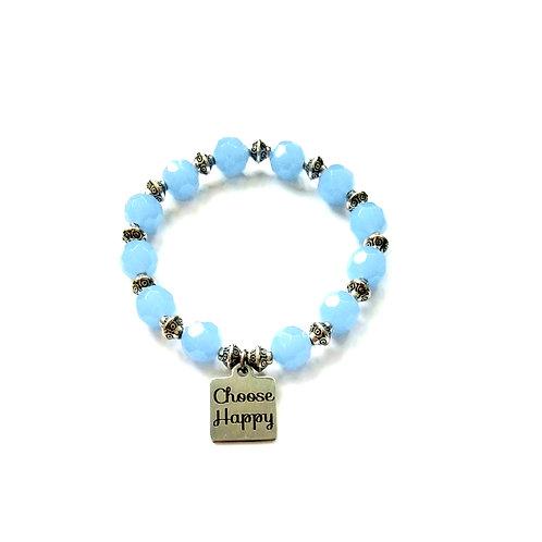 Blue Choose Happy Bracelet