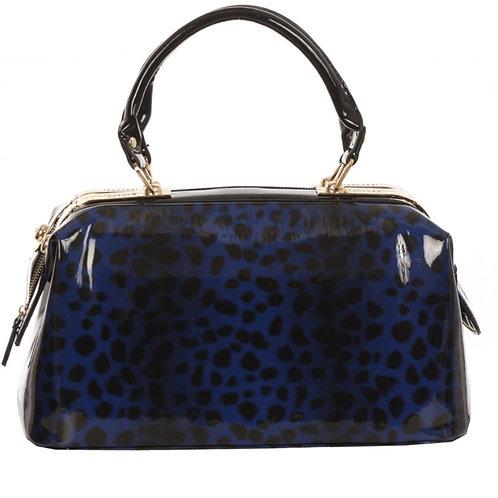 Shinny Leopard Print Satchel Bag