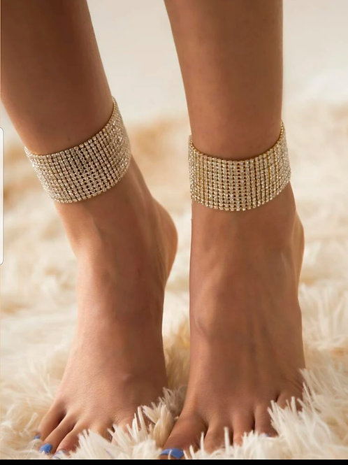 Rhinestone Decor Anklet
