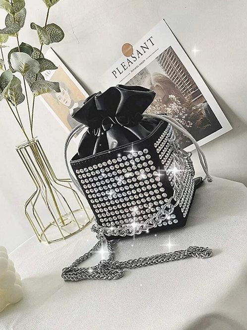 Mini Rhinestone Decor Bucket Bag
