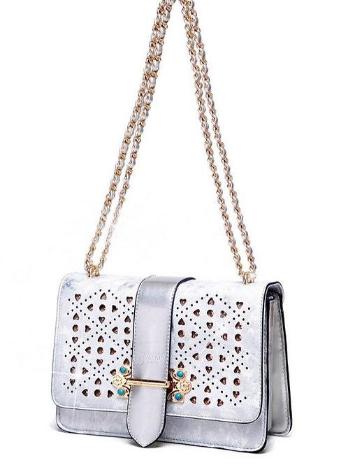 Brangio Sparkle of Hearts Clutch Crossbody Bag