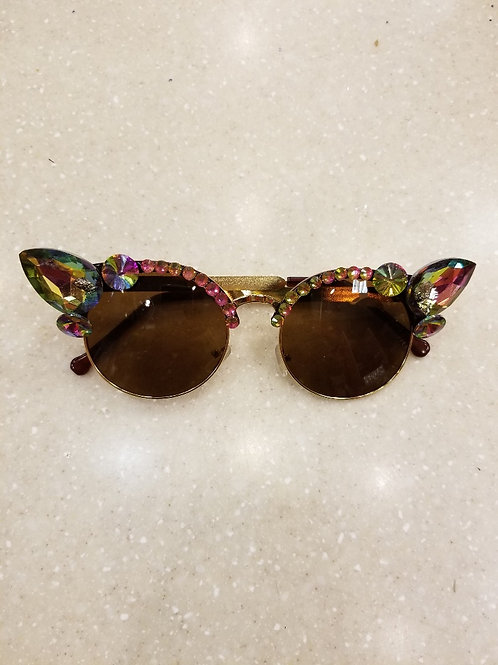 Colorful Rhinestone Glasses