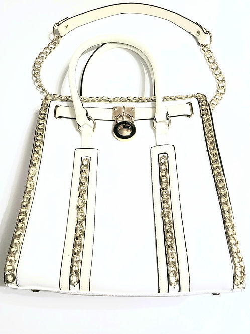 Chain and Center Key Accented Tote