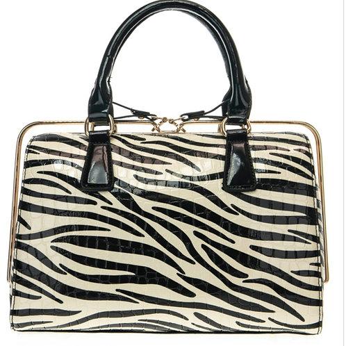Zebra Print Satchel Bag