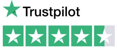 5 star TrustPilot rating