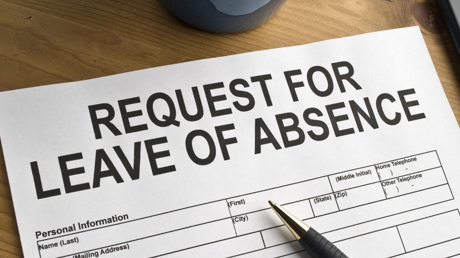 Request for leave or absence