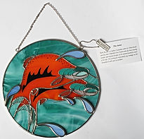 rick beaver sockeye swirl suncatcher first nations