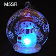 led christmas globe with snowman