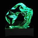 LED Hummingbird GLass Iceberg